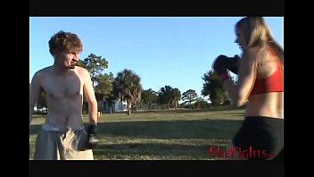 Mixed Fight: Cassidy vs Skinny White Guy