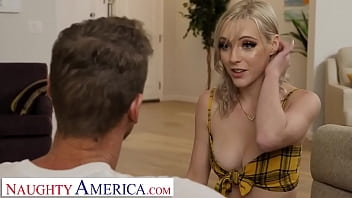 Naughty America - Jamie Jett stops by her professor's house and gets her pussy wrecked