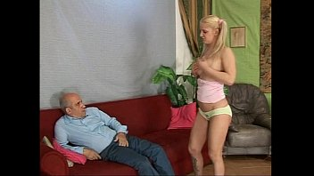 Naughty Blonde Teenager Stripped Before To Be Fucked By Old Man