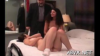 Bizarre bondage in eager scenes