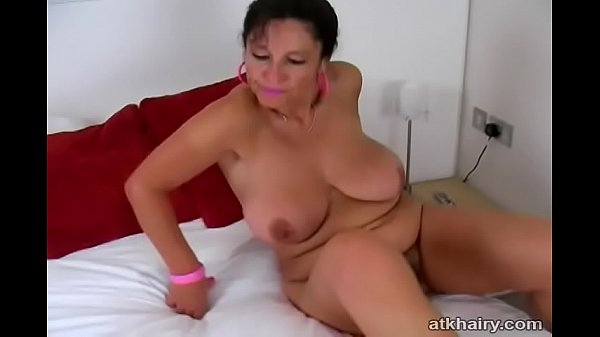 Busty British MILF Kimberly shows her fury pussy