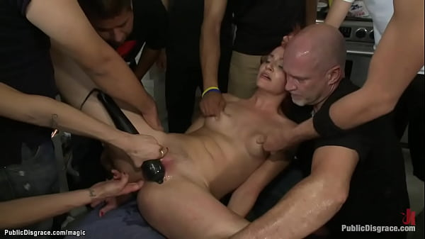 Redhead babe dp fucked in group