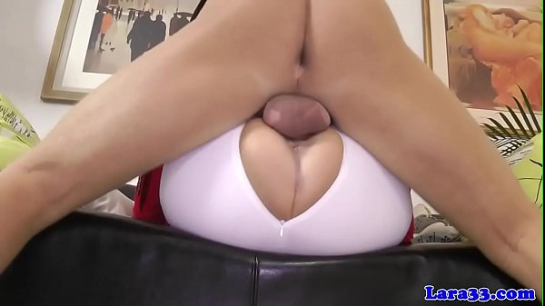 Classy milf fucked in riding pants
