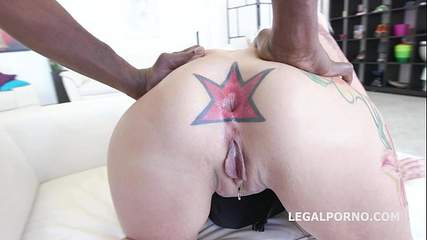 Tattooed Milf Anal whore Candela X gets rough Balls Deep interracial Fuck