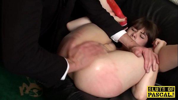 Face slapped brit handling toy