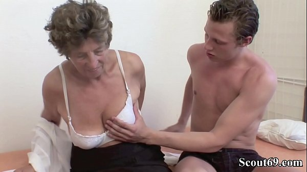 Extrem old German Grandma Moni Teach Young Guy to Fuck Thumb