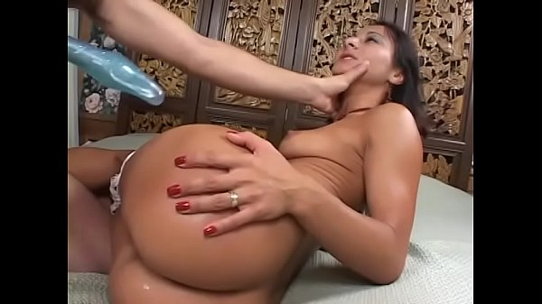 Stud fucks sexy brunette pussy and ass then cums on her face