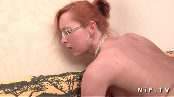 Small titted french redhead gets a big dick in her ass for her casting