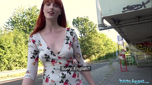 Public Agent Dirty hot American redhead beauty Alex Harper Thumb