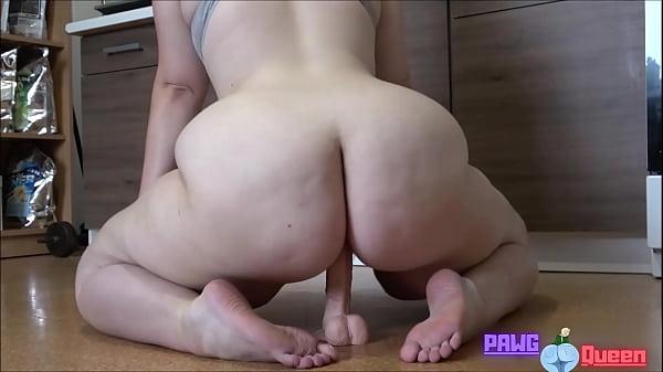 BBW rides a dildo. https://BootyassGirl.com Thumb