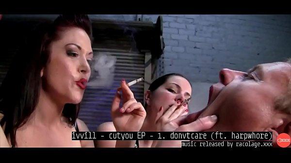 Smoking Dominatrixes Using Man Human Ashtray Music By ivvill