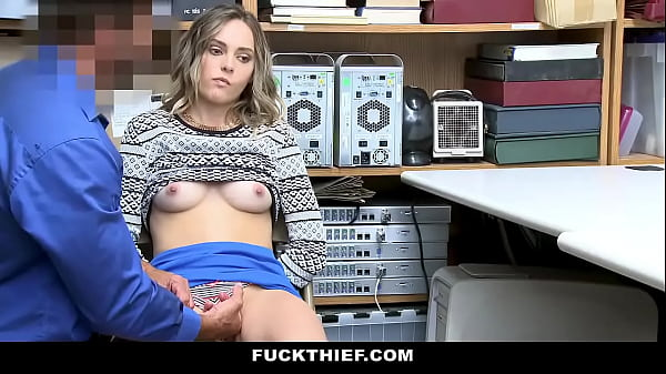 Blonde thief Hard Fucked By Security Officer