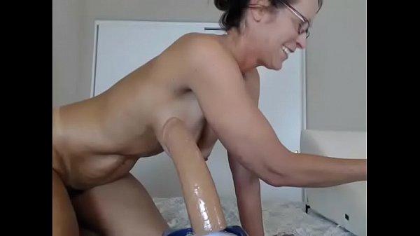 Wet live milf rides big dildo for cum on cam Thumb