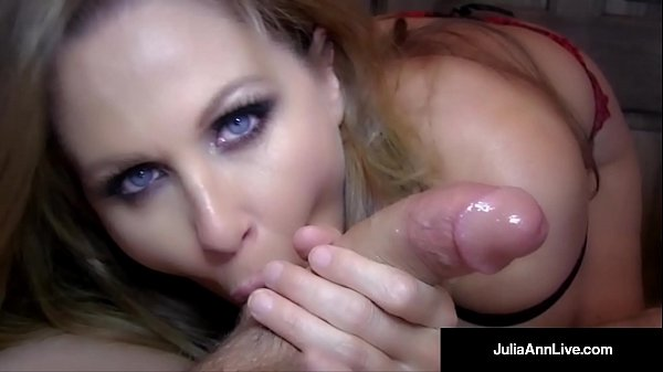 Hottest MILF Julia Ann Blows A Cock & Gets Load On Her Face