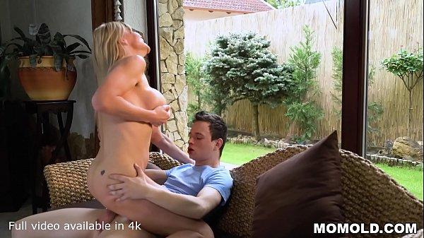 Horny Blonde Stunner MILF Nadya Basinger Fucking the Young Guy She was Babysitting Before