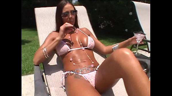 Busty brunette MILF Cheyenne Hunter seduces pool cleaner stud and they bang hardcore