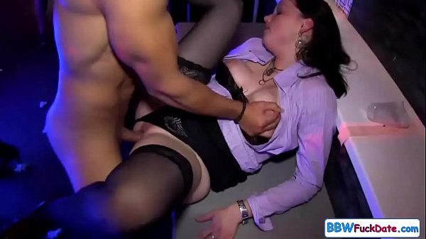 Chubby Girls Sucking and Fucking at the Club