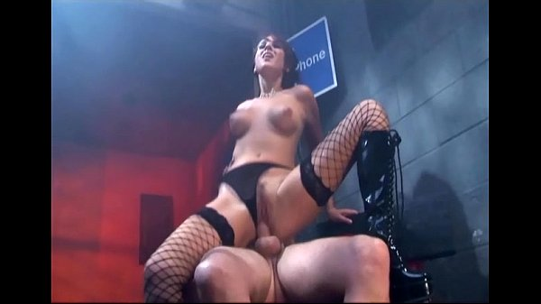 Pretty redhead fucking in stockings and boots