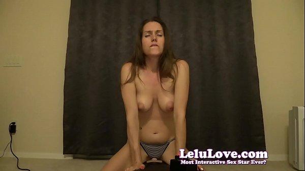 Topless girl in panties has 2 BIG orgasms on Sybian - Lelu Love Thumb
