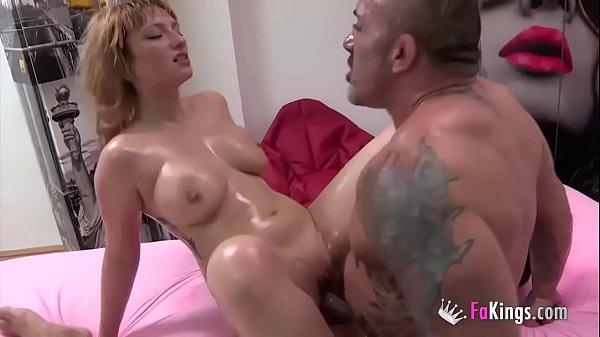 Busty babe Lucia Fernandez has hardcore sex wit...