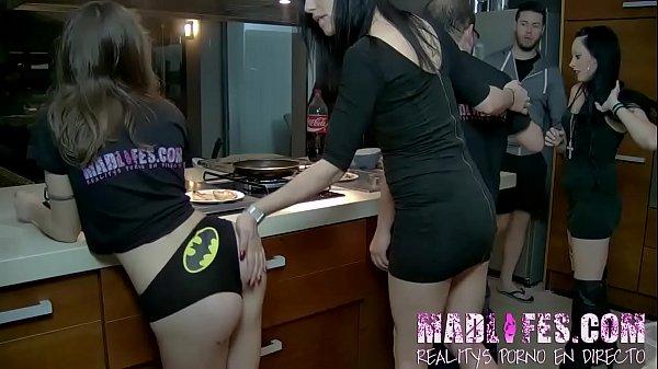Alba deepthroats a big cock while alexa pleases herself