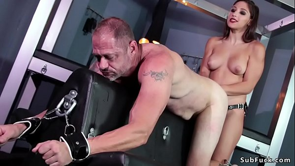 Young dom makes man eat his own cum