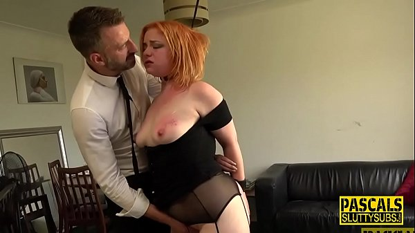 Plump submissive redhead throats cock Thumb