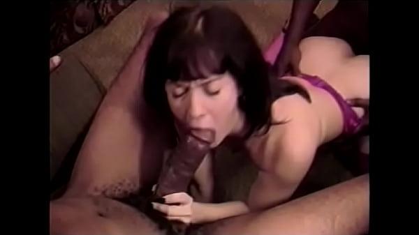 White brunette C.J. Bennett in lilac squeezer t...