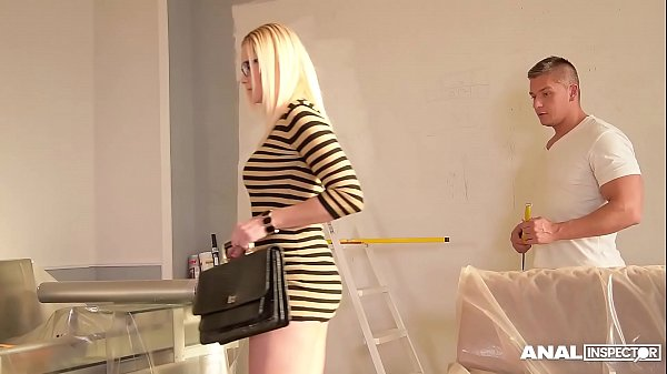Anal inspectors go nuts as handyman fills hot M...