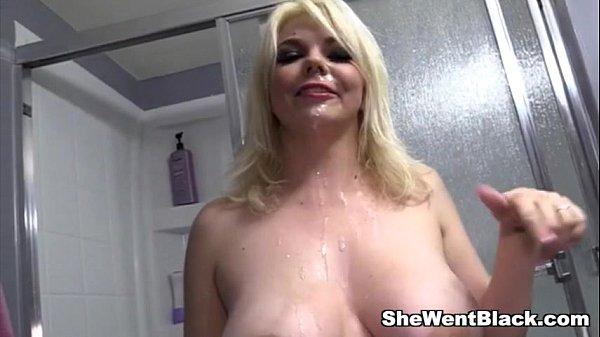 Blonde BBW Alice Frost Anal Ganbanged by Black Cocks