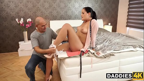 Surprised Bald Daddy Uses Opportunity To Fuck Son's Amazing Girlfriend
