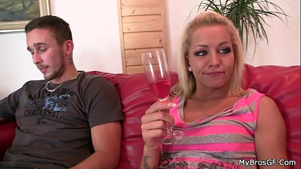 Her BF gets and she fucks his bro