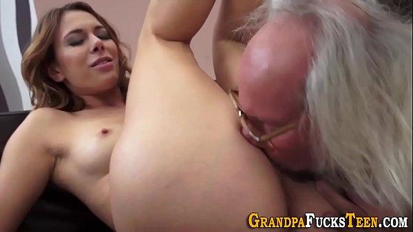 Teen hottie rides oldys dick