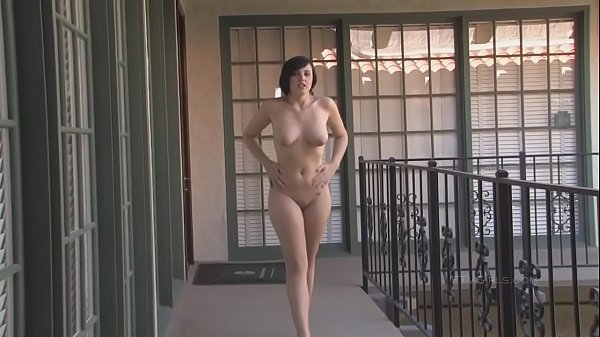 sexy-brunette-risky-public-nude-caught-interview Thumb