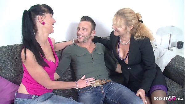 German Pornstar Texas Patti at First Porn with Mature in FFM Threesome