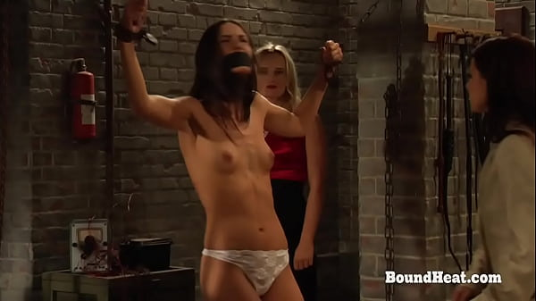 BDSM Lesbian Slave Tied Up And Punished With Whip Thumb