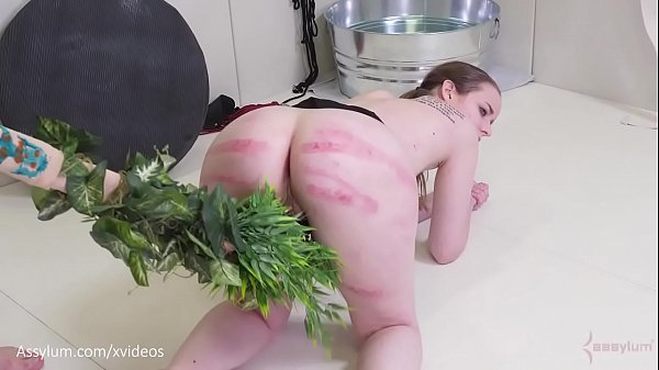 Beautiful blonde cave woman gets an ass fucking, ass to mouth, and a beating with a tree branch (Jessica Kay