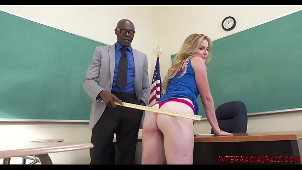 Schoolgirl Britney Light takes teachers big bla...