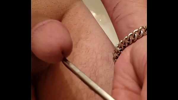 Driving a thick spoon deep into my cockhole as a sound mmm
