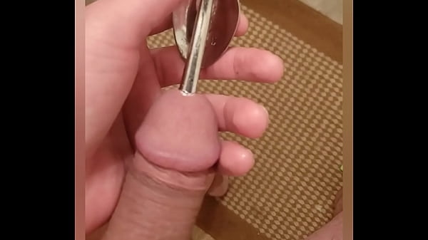 Driving a thick spoon deep into my cockhole as a sound mmm Thumb