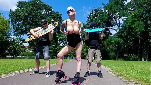 BUMS BUS - Seductive Austrian blonde Mila Milan goes wild for cock in the van backseat