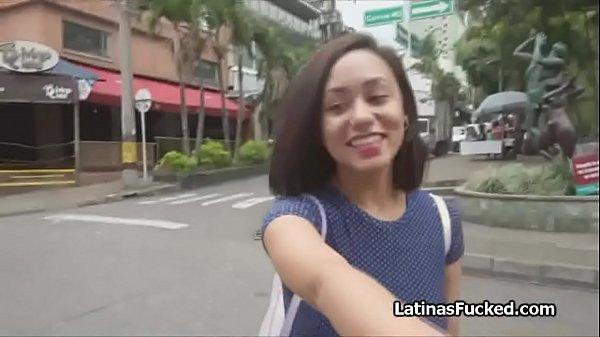Cute Latina amateur on a fuck casting