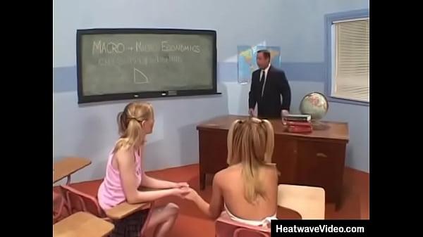 Teacher fucks schoolgirls
