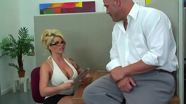 Hot Busty Cougar From ExposedCougars.com Gets It Good in Office Thumb
