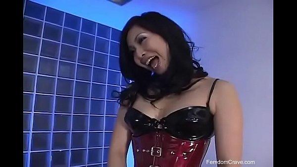 Beautiful asian pegging his ass - Scene 2