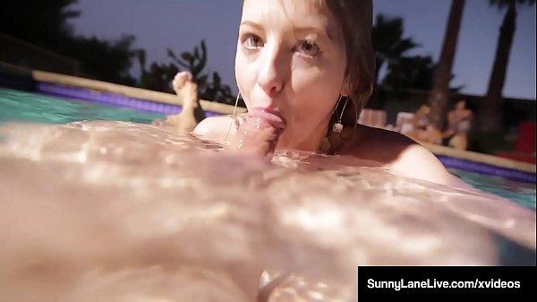 Underwater Naked Siren Sunny Lane Sucks Dick Below The Tide!