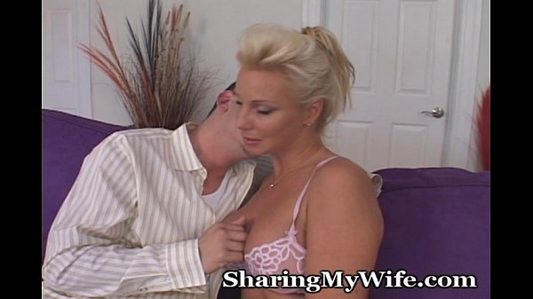 Older Blonde Goes Nuts For Young Big Cock