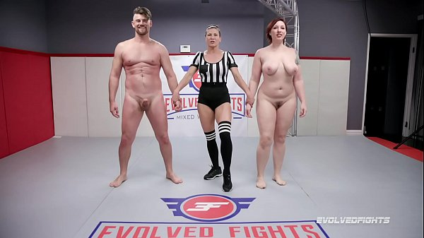 Naked Sex Fighting Mistress Kara wrestles Jack Friday doing a 69 and being fucked hard