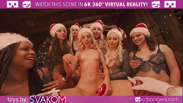 VRBangers.com-Christmas Orgy With Abella Danger And Her 7 Sexy Elves VR Porn