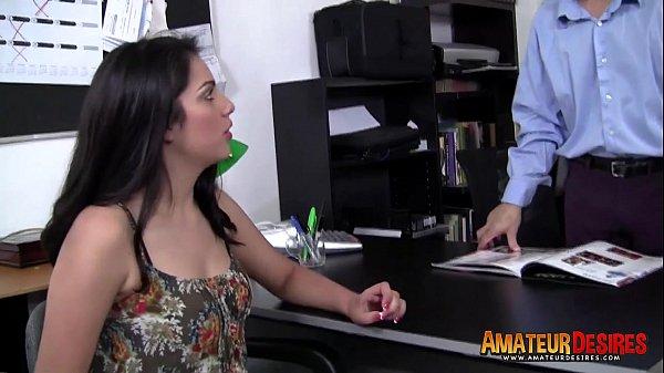 Hot amateur denise fucks in interview